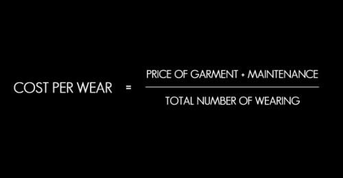 cost per wear