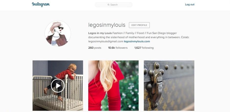 legos in my louis instagram account