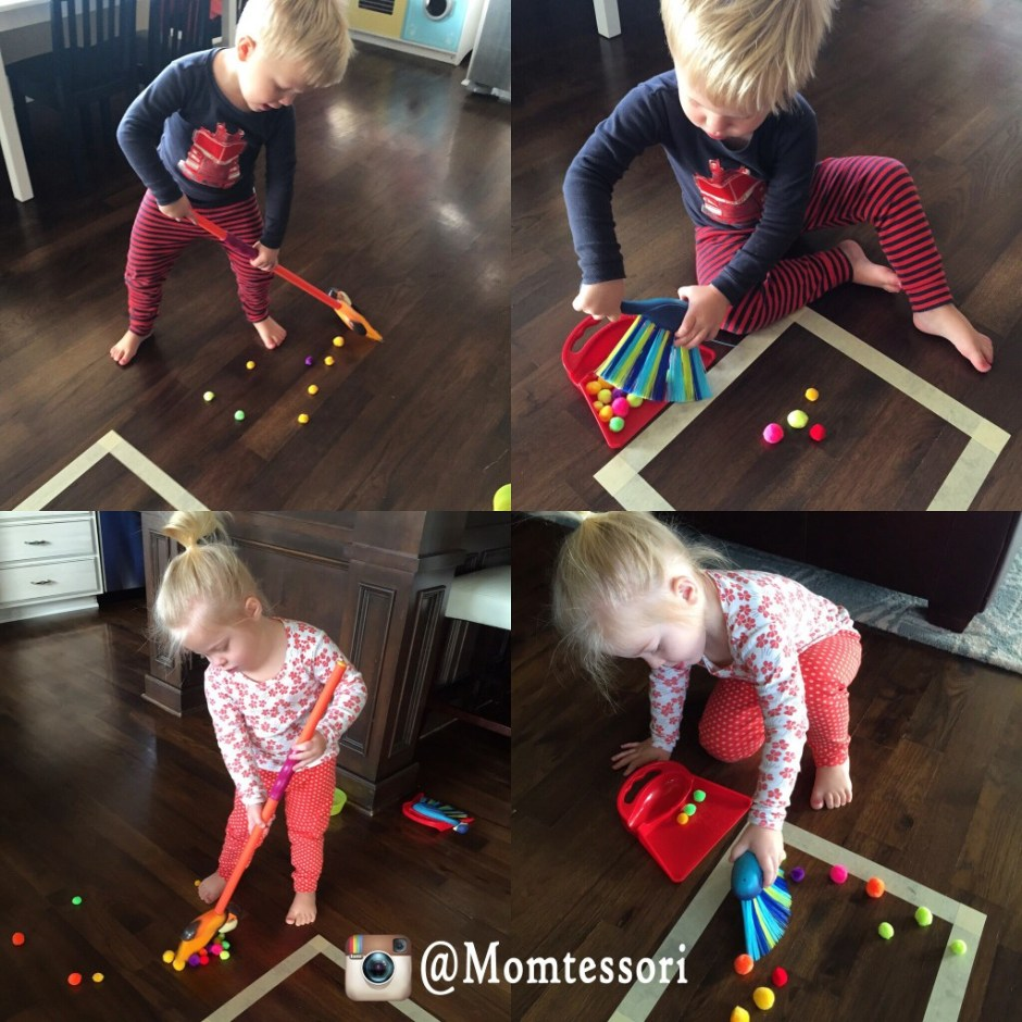 montessori sweeping