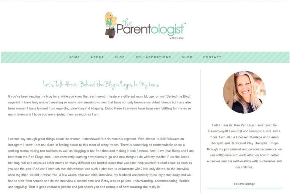 legos in my louis - parentologist interview