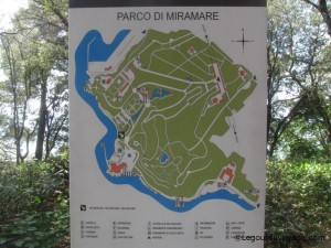 Plan du parc - Château de Miramare