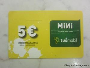 Carte prépayée TUSmobil