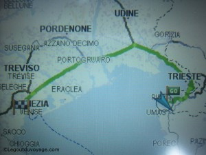 Trajet GPS Slovénie Venise