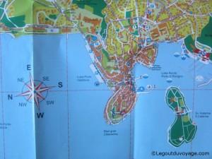 Plan vieille ville Rovinj - Croatie