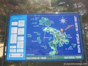 Plan archipel Brijuni