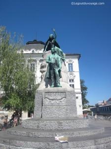 Statue de France Prešeren - Ljubljana, Slovénie