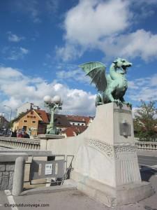 Le pont des Dragons - Ljubljana