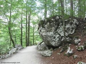 Sentier Slap Savica et pierre du Karst