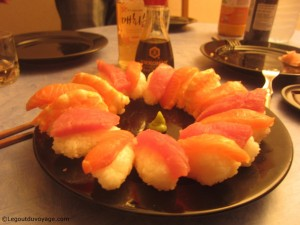 Notre plat de sushis Maison
