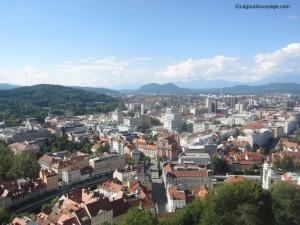 Vue de Ljubljana depuis la tour du château