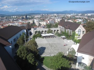 Vue depuis la tour du château de Ljubljana