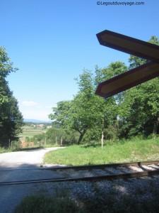 Passage à niveau près de Mitrej - Slovénie