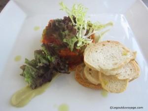 Tartare d'Escalibada - Sabores Restaurant - Empuriabrava