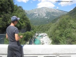 Vue exceptionnelle de la rivière Soča - Slovénie