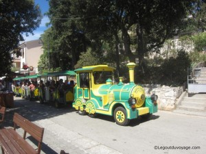 Petit train de Rabac en Croatie