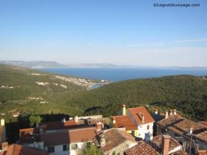 La vue panoramique depuis le campanile de Labin