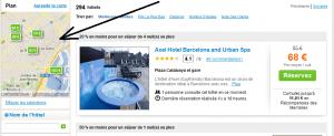 HotelClub.fr - Carte avec emplacement des hôtels