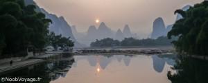 Coucher de soleil à Yangshuo