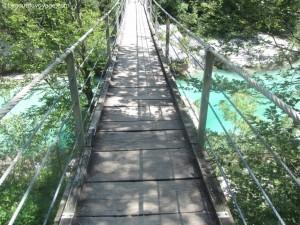 Pont de singe traversant la Soča – Kobarid