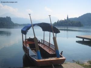Embarcation Pletna sur le lac de Bled