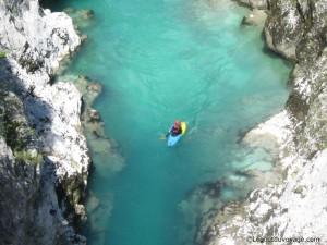Rivière Soča en slovénie