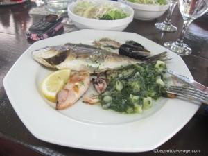 Plat de poisson - Restaurant Batana - Fazana