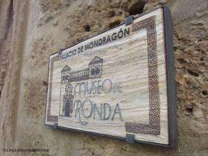 Visiter Ronda - Palais de Mondragon
