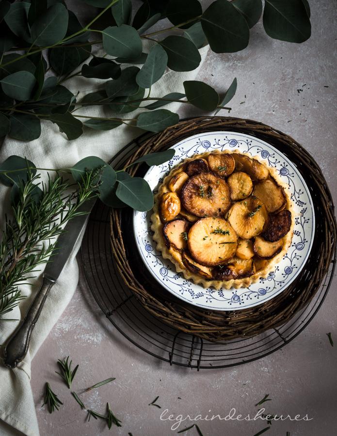 Du potager à l'assiette: tarte tatin aux navets