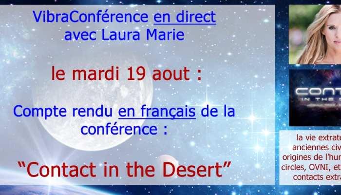 Important ! VibraConférence avec Laura Marie le 19 Août : Compte rendu de la conférence