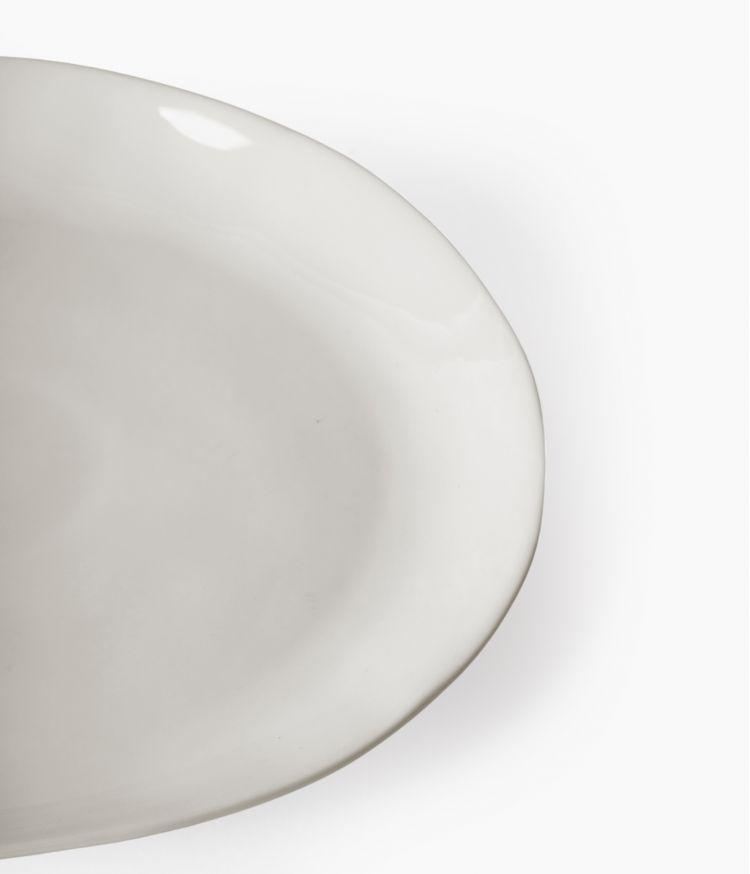 assiette a dessert en porcelaine blanche