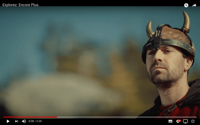 Sébastien as a Viking in a Marine Atlantic commercial