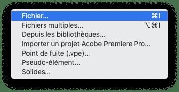 importer un fichier dans after effects