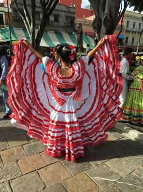 Traditional costume in the Zocalo
