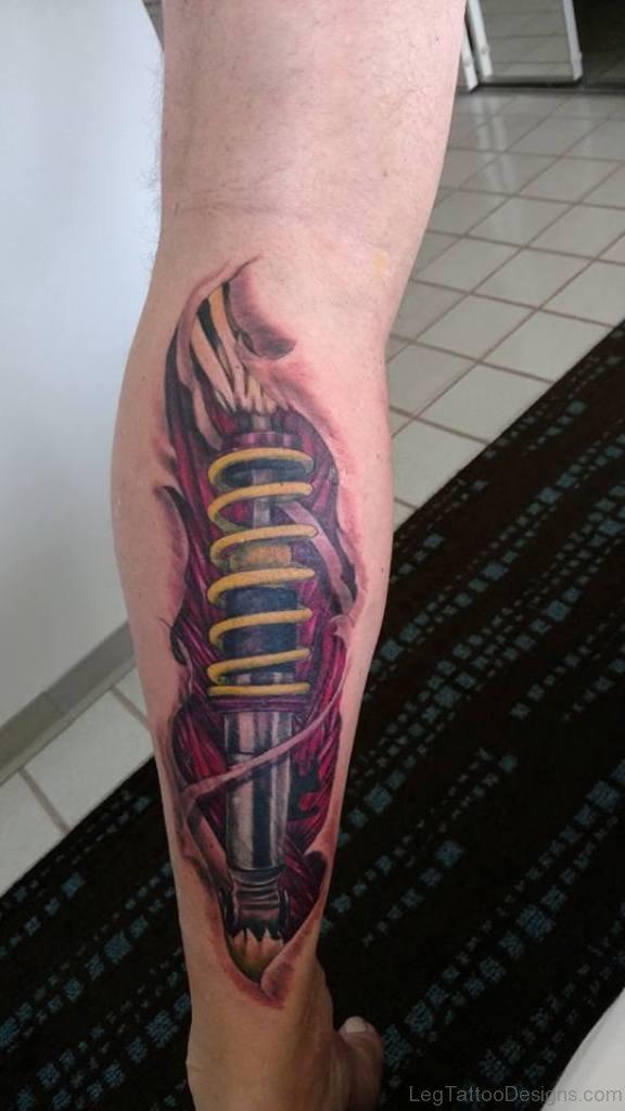 Biomechanical Leg Tattoo : biomechanical, tattoo, Wonderful, Biomechanical, Tattoos