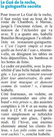 DL article Le Gué de la Roche