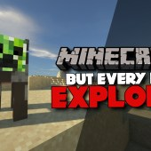 Minecraft, But Mobs Explode… (Featuring Forge Labs)