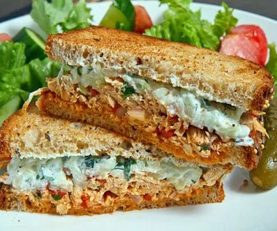 toasted chicken mayo