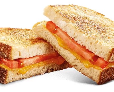 toasted tomato and cheese