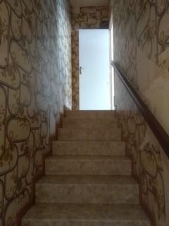 escalier papier peint