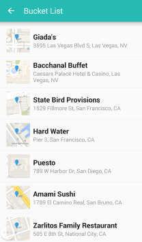 Create a Bucket List of places you want to visit. You can check them off when you do.