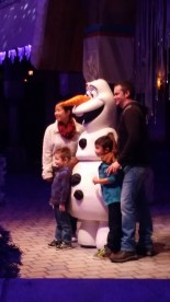 Olaf was there to meet his guests.