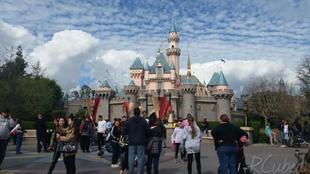 Cinderella's Castle. Check out those clouds!