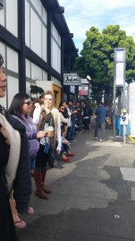 The line of people before 10:00am.