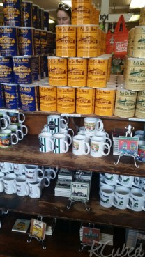 Lots of Cafe du Monde merchandise