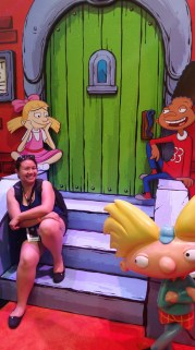 Hanging out with the Hey Arnold crew.