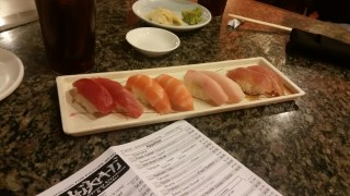 One of many orders of nigiri.