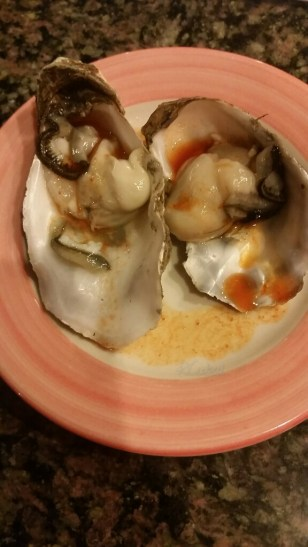 Fresh oysters with ponzu sauce