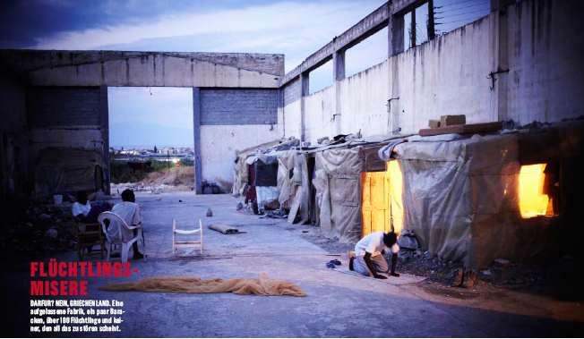Flüchtlinge in einer aufgelassenen Fabrikshalle (Foto: Heinz Tesarek)