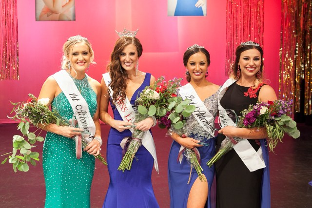 From left to right: 1st Attendant Madison Richardson, Miss Lehi: Jacki Thacker, 2nd Attendant Sienna Meek, 3rd Attendant Abby Anderson. Photo: Faces Photography