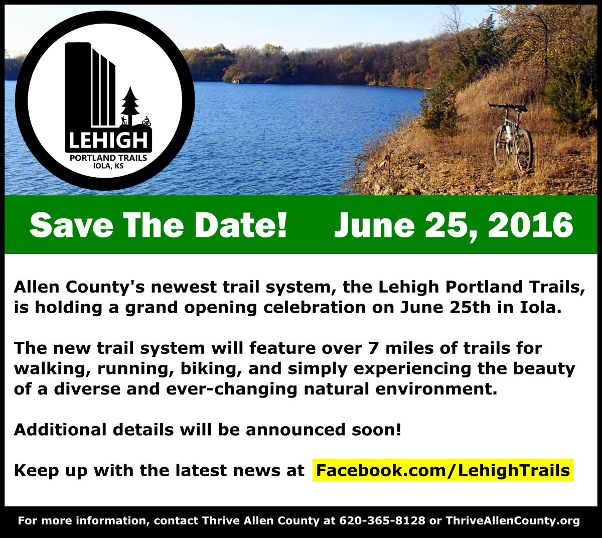 Lehigh Portland Trails Grand Opening June 25